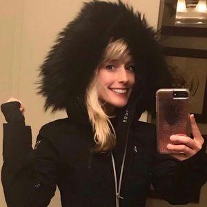 Spyder Ski Jacket with Black Fur Around the Hood